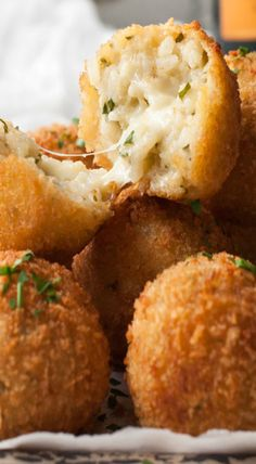 Cheesy Italian Arancini Rice Balls More