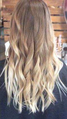 New Hair Color Highlights Balayage Ombre Hairstyles Ideas Ombré Hair, New Hair, Wavy Hair, Brown Blonde Hair, Dark Blonde Ombre, Light Blonde Balayage, Medium Blonde, Ombre Hair Color, Hair Highlights
