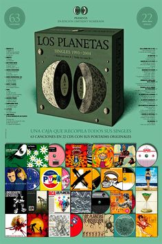 Los Planetas Singles 1993-2004 edición numerada y limitada a 999 unidades...