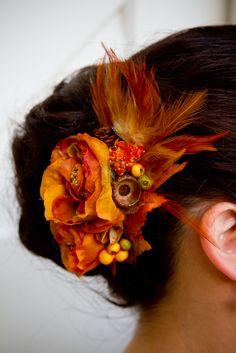 Awesome fall wedding hair
