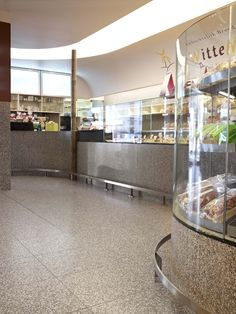 Retail space cladded with terrazzo available at Signorino Tile Gallery