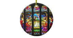 Stained Glass Nativity Scene Christmas Ornament | Zazzle