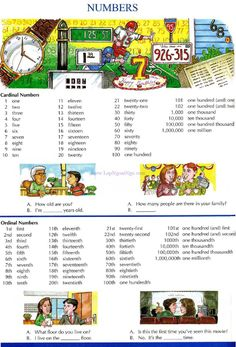 26 - NUMBERS - Pictures dictionary - English Study, explanations, free…