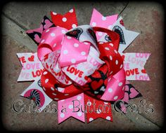 Valentine bright and colorful loopy love mix and by tootoocute4you