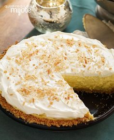 Take only 15 minutes to make a luscious Coconut-Cream Cheese Pie. Waiting for your Coconut-Cream Cheese Pie to come out of the fridge. Cheese Pie Recipe, Cream Cheese Pie, Cheese Pies, Cream Cheese Recipes, Kraft Recipes, Pie Recipes, Dessert Recipes, Pie Dessert, Eat Dessert First