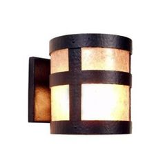 Steel Partners Portland Open 1 Light Outdoor Sconce Shade Color: White Mica, Finish: Old Iron