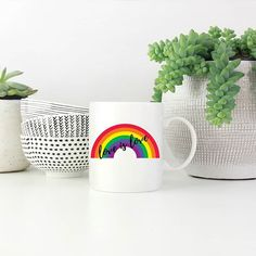 Ready for pride Jozi? #LoveIsLove  Available at snatchthatdeal.com in plain white or black & white mugs. Pride, Black And White, Mugs, Tableware, Dinnerware, Black N White, Black White, Tumblers, Tablewares