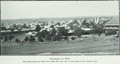 Two Historic Pictures of Parramatta in 1824 and 1911 Historical Pictures, Sydney Australia, Ancestry, Paris Skyline, The Past, South Wales, Park, History, Places