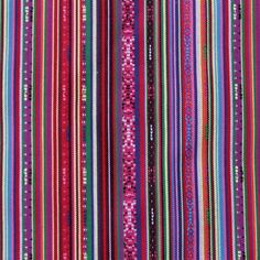 Mexicaanse stof Sarita, kleurrijke Mexicaanse stoffen van Stoffen Online. - Stoffen Online