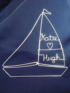 COME SAIL AWAY Large Simple Sailboat Topper by HeatherBoydWire, $39.00