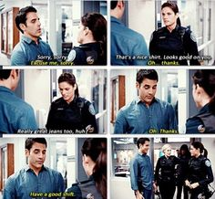 Rookie Blue: episode 4: McSwarek moment Ahaha could not stop laughing when i watched this part :D