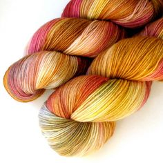 MCN 430 Fingering Yarn  Sweet Clementine 430 yards by JulieSpins, $29.00