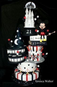 Disney Cake by Verusca Walker, can go black and pink