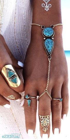 Bohemian Turkish Silver Chain Adjustable Fashion Bracelets & Bangles Natural Turquoise Slave Bracelet Anklets For Women Jewelry Gold Tattoo, Metal Tattoo, Boho Fashion, Fashion Jewelry, Women Jewelry, Fashion Bracelets, Suit Fashion, Cowgirl Fashion, Woman Fashion