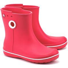 CROCS Jaunt Shorty Boot W Raspberry - Czerwone Piankowe Kalosze Damskie - Buty Kalosze Kobiety   Mivo