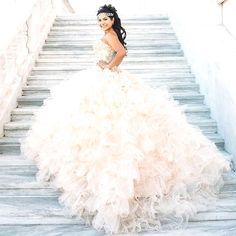 18148d3495 Glitter Quinceanera Dress Modest Ball Gown Tulle Wedding Dress With Beading  Long Blush Pink Sweet 15 Prom Gowns