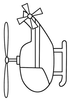 This Helicopter (Transportation) coloring page features a picture of a helicopter to color. The coloring page is printable and can be used in the classroom or at home. Coloring Book Pages, Coloring Sheets, Applique Patterns, Quilt Patterns, Drawing For Kids, Art For Kids, Transportation Theme, Transportation Activities, Baby Set
