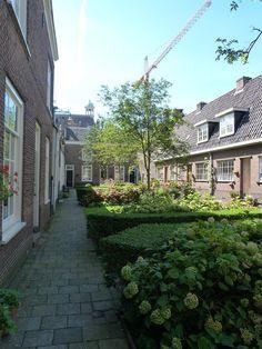 Van Slingelandthofje - Van de nog bestaande hofjes is het Oude Vrouwenhof of Van Slingelandthof halverwege de Vriesestraat het oudste. Pieter Henricksz van Slingelandt liet de eerste huisjes in 1519 bouwen; daarna is het hofje nog uitgebreid.