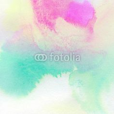 Wall Mural abstract colorful watercolor painted - watercolor • PIXERSIZE.com