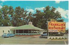 POSTCARD - Franklin's Restaurant - Statesboro, Georgia