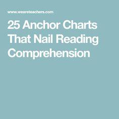 25 Anchor Charts That Nail Reading Comprehension