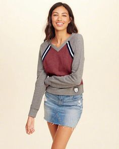 From basic tees and tanks to going out tops, Hollister's collection of girl's tops covers every girl for every occasion. Shop womens tops now. Hollister Girls, Going Out Tops, Basic Tees, Hoodies, Sweatshirts, Denim Skirt, Cute Outfits, V Neck, Clothes