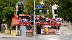 """Go On Location: Oscar-Winning Best Picture Locations in Los Angeles   Inside a small Sunset Boulevard restaurant, Woody Allen famously proposes to girlfriend Diane Keaton over a plate of alfalfa sprouts and mashed yeast in the 1977 Oscar-winning Best Picture, """"Annie Hall.""""  Today, the space houses Cabo Cantina Sunset Strip, but it's still very recognizable from its onscreen appearance in the comedy classic."""