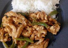 κύρια φωτογραφία συνταγής Κοτόπουλο κινέζικο με κάσιους και πιπεριές ή κοτόπουλο Σετσουάν Recipies, Food And Drink, Chinese, Chicken, Meat, Dinner, Cooking, Recipes, Cucina
