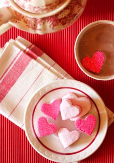 Whip up bite-sized Cinnamon Heart Marshmallows for Valentine's Day dessert using this sweet recipe.