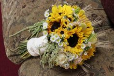 Kristin loved the bouquet from my sister-in-law's barn wedding , so we did a very similar bouquet with loads of textures, bright sunflow. Boho Wedding Bouquet, Rose Wedding, Fall Wedding, Wedding Flowers, Wedding Ideas, Green Wedding, Wedding Stuff, Wedding Planning, Fall Sunflower Weddings