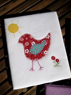 baby bird applique