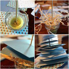 Make an easy scrap paper Christmas tree. - The V Spot