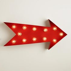 One of my favorite discoveries at WorldMarket.com: Arrow Marquee Light