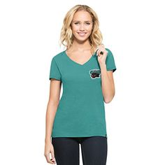 NBA Memphis Grizzlies Womens 47 Clutch MVP VNeck Tee Tailgate Teal Medium >>> To view further for this item, visit the image link.