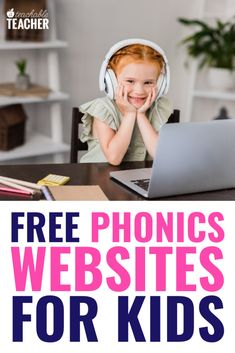 Kids can learn and practice reading and phonics with these free websites! They include online lessons, games, and activities where kids learn and practice phonics and reading. They are perfect for distance learning. Learning Phonics, Phonics Reading, Reading Games, Interactive Learning, Phonics Activities, Teaching Reading, Student Learning, Kids Learning, Guided Reading