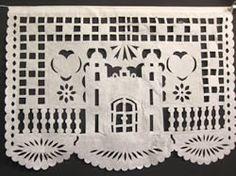 church papel picado wedding paper banner