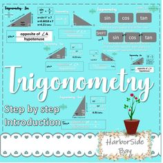This download is great for Introducing Trigonometry.  It includes:  -Trigonometry's formulas to use as reference  -Trigonometry examples solved step by step  Check out Harbor side Bay for THE LATEST available DOWNLOADS!