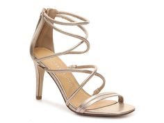 Sophia Metallic Sandal $50 Quinceanera Shoes, Bridesmaids Heels, Metallic Sandals, Metallic Gold, Chinese Laundry Shoes, Gold Heels, Glass Slipper, Beautiful Shoes, Slippers