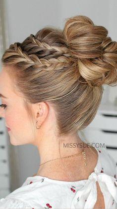 High Bun Hairstyles, Box Braids Hairstyles, Wedding Hairstyles, Black Hairstyles, Bridesmaid Hairstyles, Medium Hairstyles, Dance Hairstyles, School Hairstyles, Updo Hairstyle