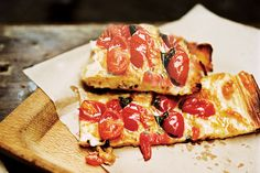 Roman Style Pizza with Roasted Cherry Tomatoes / Photo by Jeff Lipsky