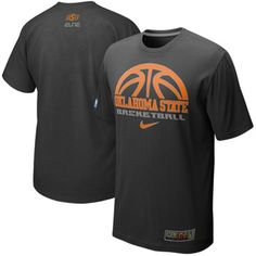 nike oklahoma state cowboys 2011 silver elite basketball practice t shirt black - Basketball T Shirt Design Ideas