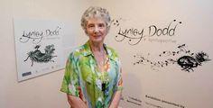 Artist Lynley Dodd in Rockhampton for the opening of her retrospective art exhibition.