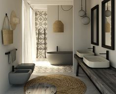 5 Determined Cool Ideas: Natural Home Decor Boho Chic Texture natural home decor living room spaces.Natural Home Decor Rustic Interior Design natural home decor diy pine cones.Natural Home Decor Modern Mid Century. Bad Inspiration, Bathroom Inspiration, Interior Inspiration, Bathroom Ideas, Bathroom Designs, Bathtub Ideas, Bathroom Goals, Bathroom Remodeling, Bathroom Colors