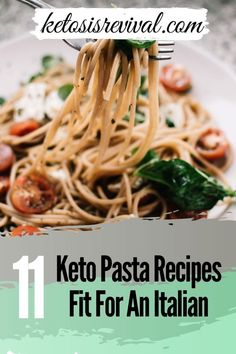 Ketosis Revival is showcasing 11 Keto pasta recipes that are even fit for an Italian, and the will keep the Italian fit! You don't have to miss out on having your favorite Italian dishes when losing weight. What a delightful surprise! This diet sometimes seems counterintuitive, but who is complaining when you can eat your favorite delicious foods. The recipes are easy, low carb, and includes the delicious alfredo sauce. Get started by downloading here. #ketopasta #ketoitalian #ketodelicious