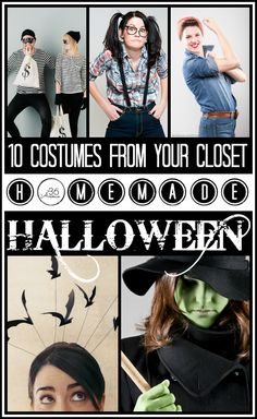 10 Genius Last Minute #Halloween #Costumes  from your closet at the36thavenue.com  ...Eek!  to remember for next year