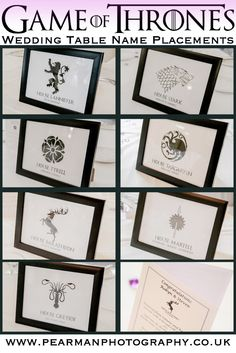 Game of Thrones Wedding Place-Settings From a Wedding I did recently. True Fans.