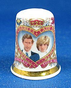Royal Wedding 1981 Charles And Diana Thimble Bone China