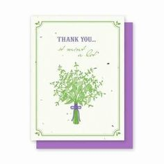 Thank You Mint Plantable Cards - 4 Pk