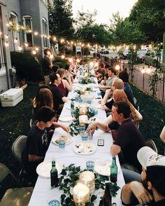 Happy Wedding Ideas with Backyard Party - Garten - Rehearsal Dinners, Dream Wedding, Party Wedding, Wedding Summer, Wedding Ideas, Small Wedding Receptions, Wedding Dinner, Wedding Ceremony, Wedding Decorations