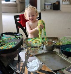 Welcome to Active Babies - Activities for Babies, Toddlers, and Children: Painting Pasta